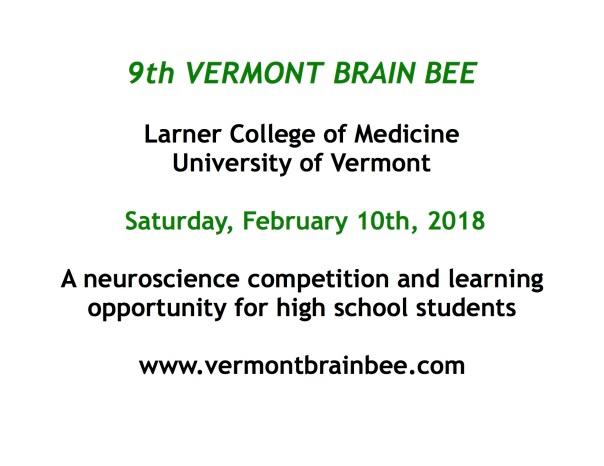 Vermont Brain Bee 2018